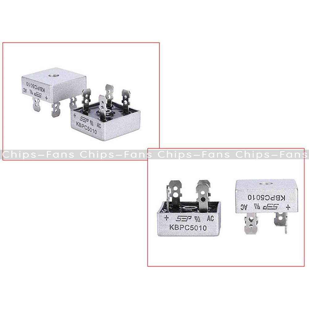 Practical KBPC5010 1000 Volt Bridge Rectifier 50 Amp 50A Metal Case Diode Bridge