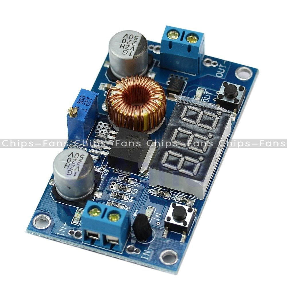 5a Adjustable Power Xl4005 Step Down Charge Module Led Driver With Dc Cc Cv Red Voltmeter