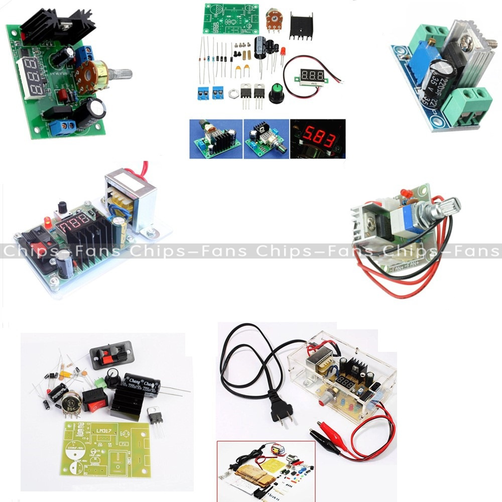 Lm317 Speed Control Adjustable Regulated Step Down Module Power Based 0 To 3v Supply Diy Kit
