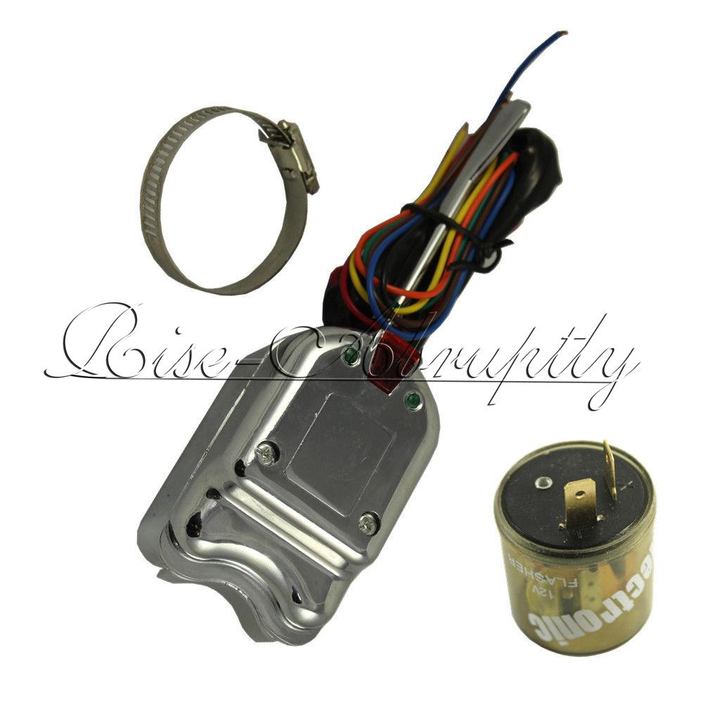 Hot Rod Turn Signals : Chrome v universal street hot rod turn signal switch for