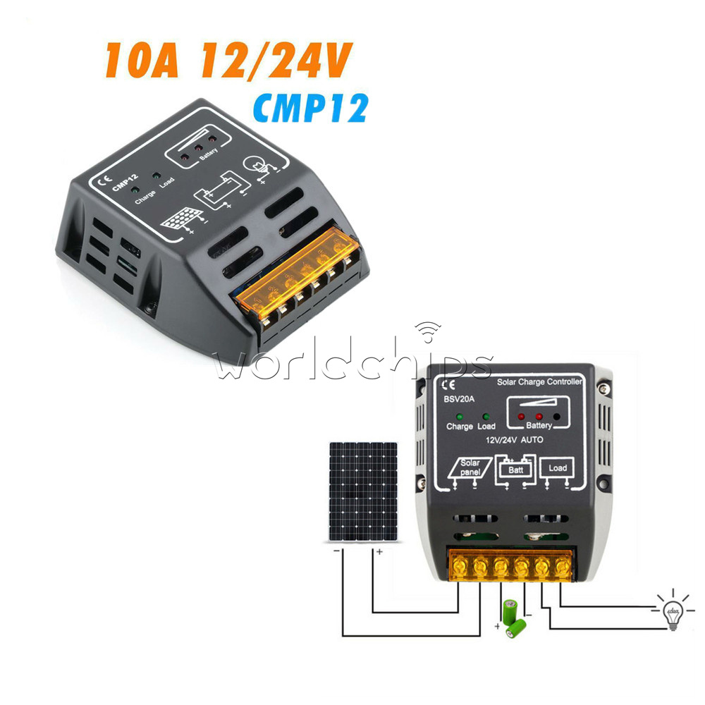 12v 24v 10a 20a Solar Panel Charge Controller Battery Regulator Safe Pwm Controllers 12 30a Technology High Efficiency Diversified Load Control Ce Certificate Automatically Manage The Working Of And In System