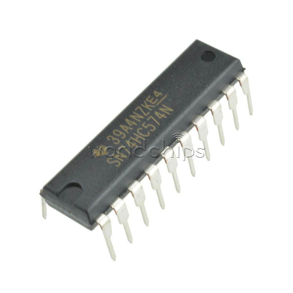 5 pcs 74HC574N 74HC574 DIP-20 D-Type Flip-Flop Integrated Circuit IC DIP