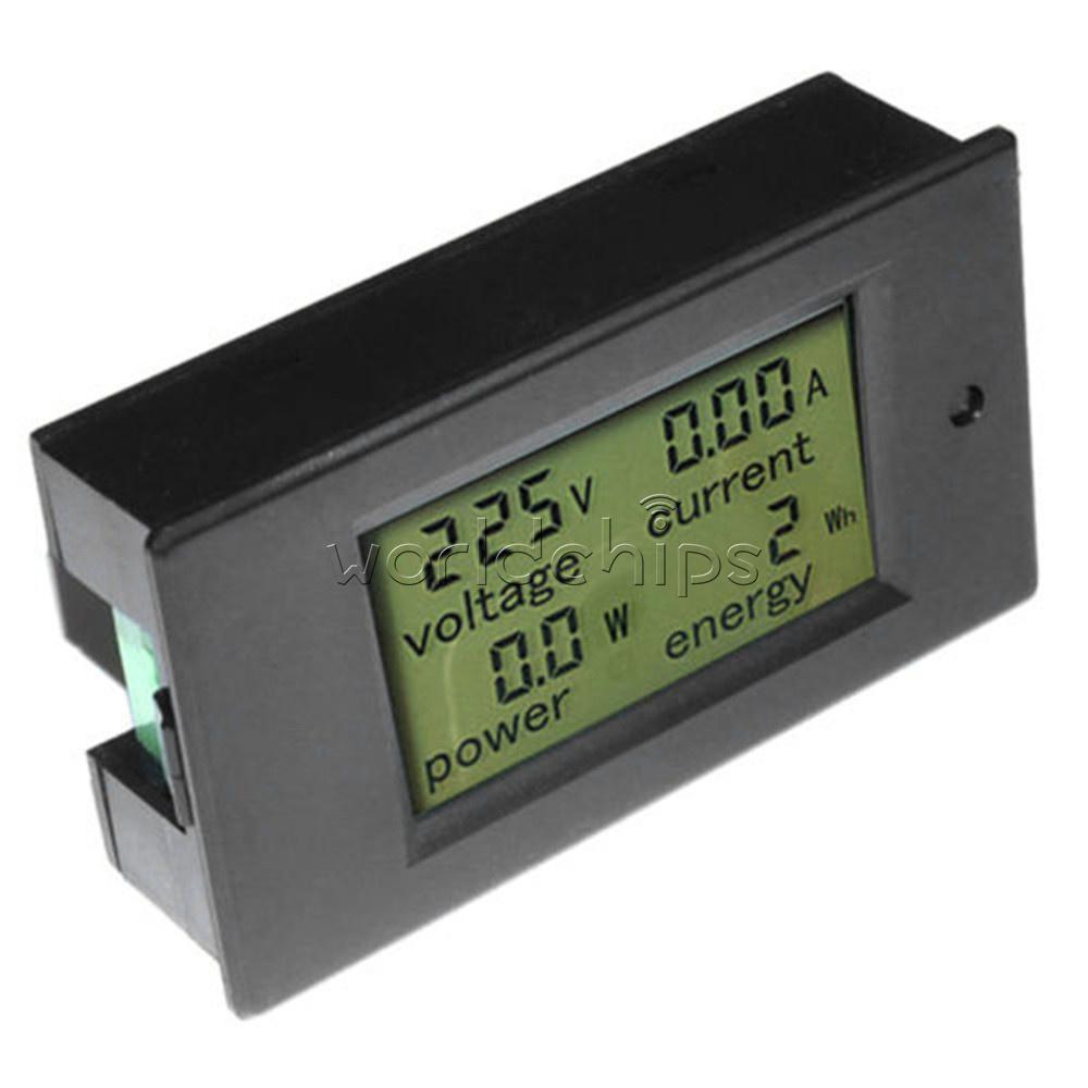 New 50A Digital LCD Volt Watt Current Power Meter Ammeter