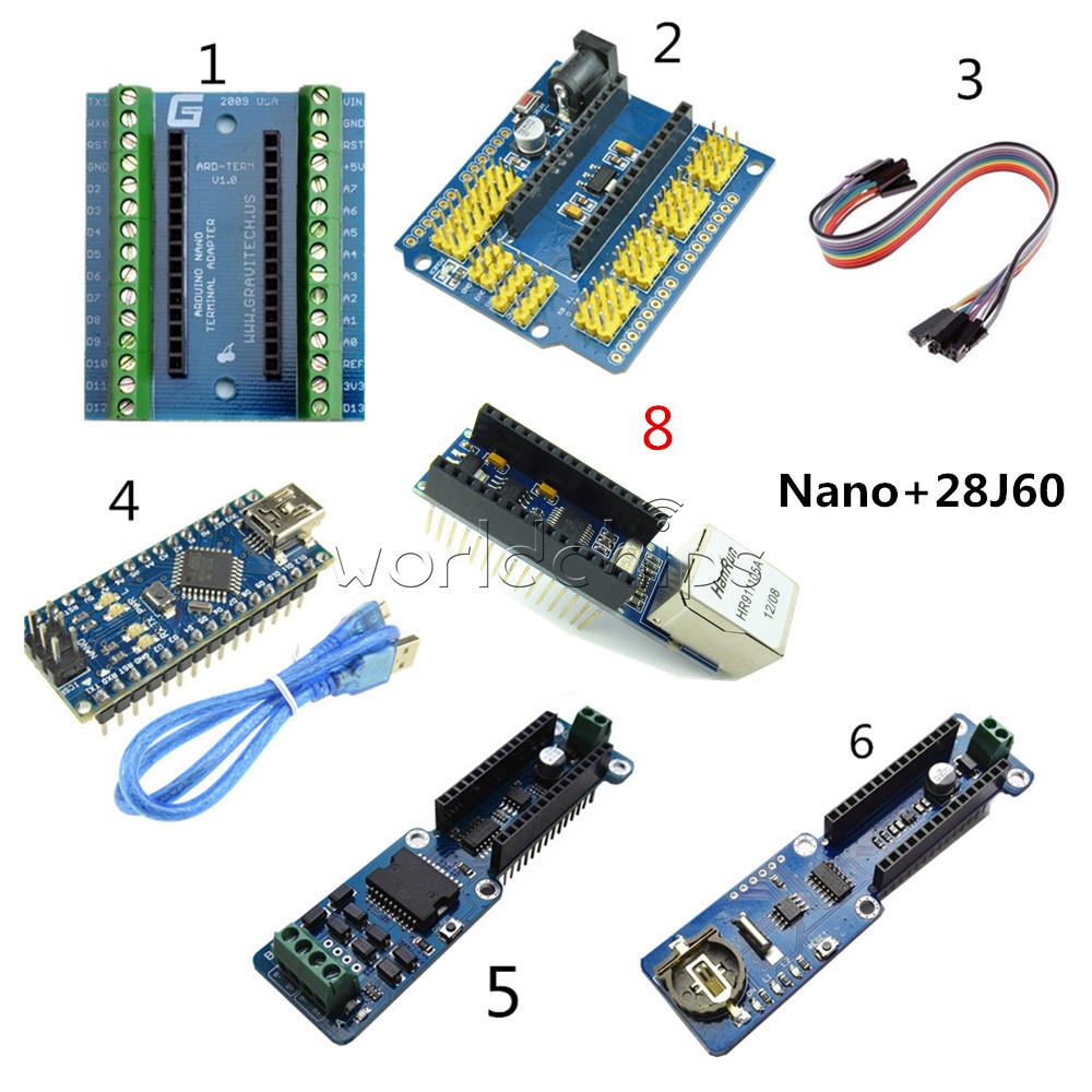 Nano V3 28j60 Kits Atmega328 Micro Controller Ch340g L298p