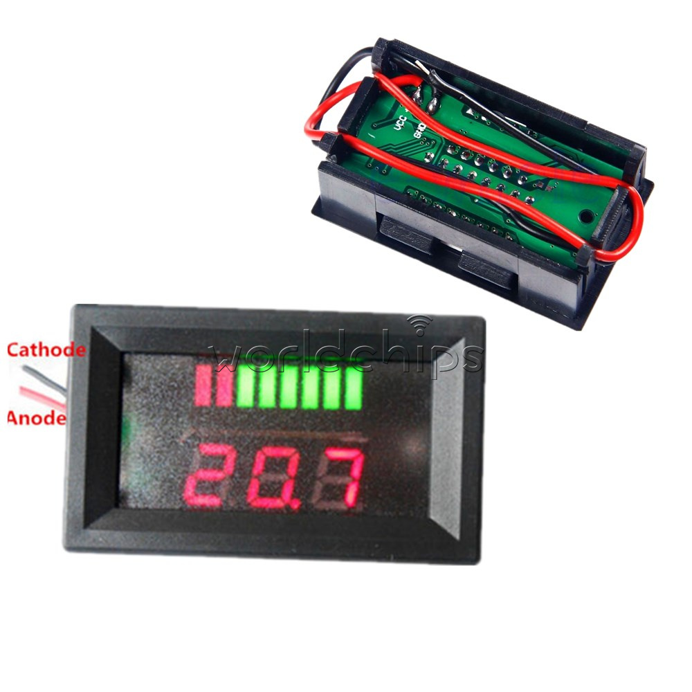 12v acid red lead battery capacity indicator charge level. Black Bedroom Furniture Sets. Home Design Ideas