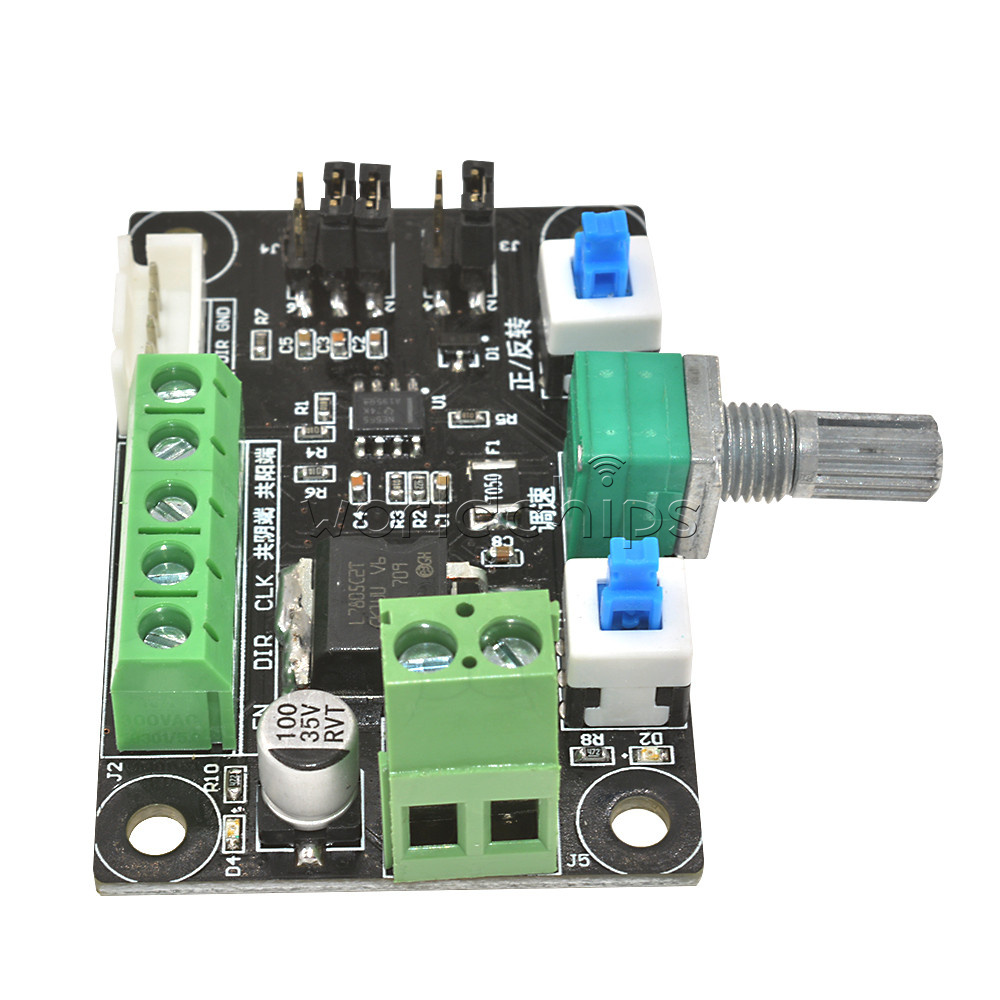 Stepper motor driver controller pwm pulse signal generator for Stepper motor velocity control