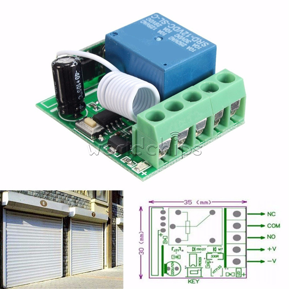 Dc12v 10a 315 433mhz 1 Channel Wireless Relay Rf Remote Control The Device Has Four Modes Toggle 4rf Working Modesuper Heterodyne Receiver 5receiver Sensitivity 90dbm 6remote Distance 100 Meterin Open