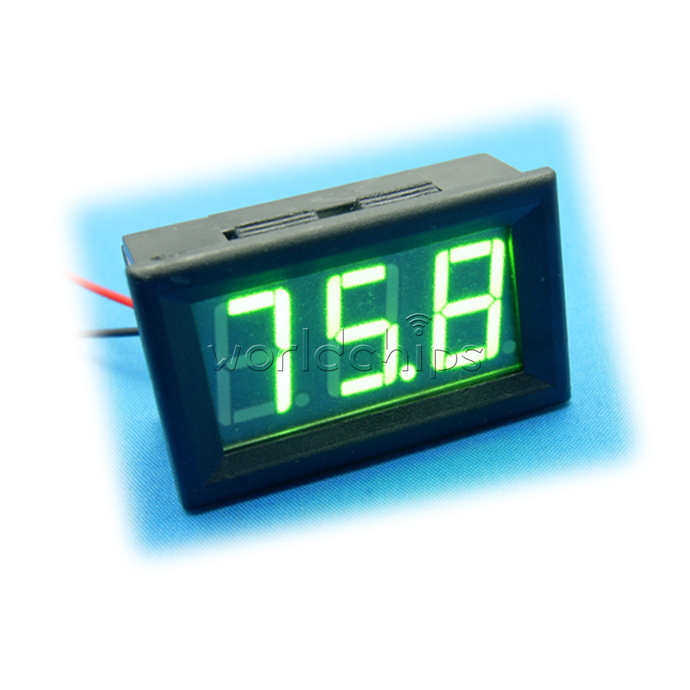 Digital Panel Meter 9v 3 5 : Dc v to green led panel meter mini digital