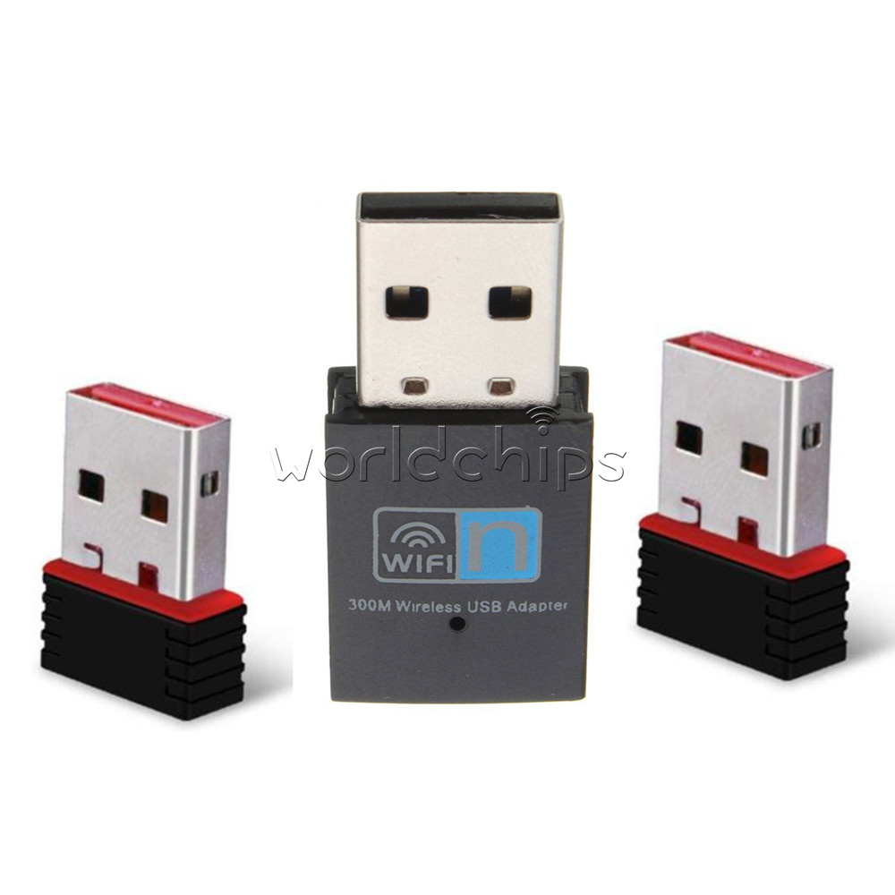 Mini Usb 150 300mbps Wifi Wireless Adapter Dongle Network Lan Card Receiver 80211n G B