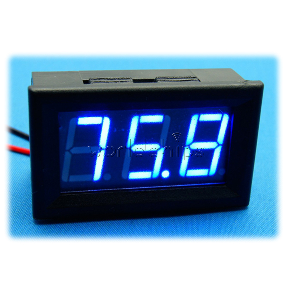 Digital Panel Meter 9v 3 5 : Dc v to blue led panel meter mini digital voltmeter