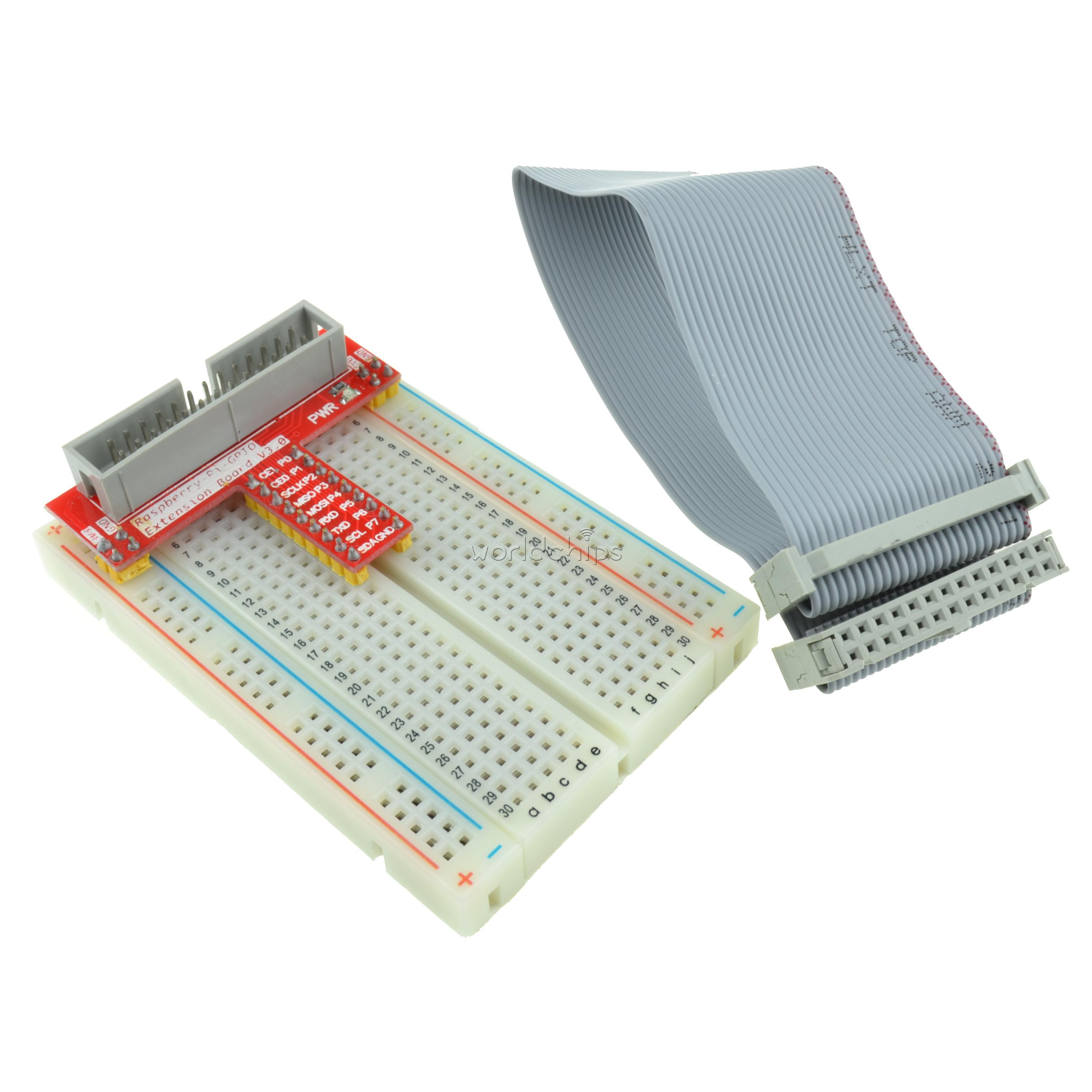 Raspberry Pi Gpio Kit Extension Board Adapter Breadboard