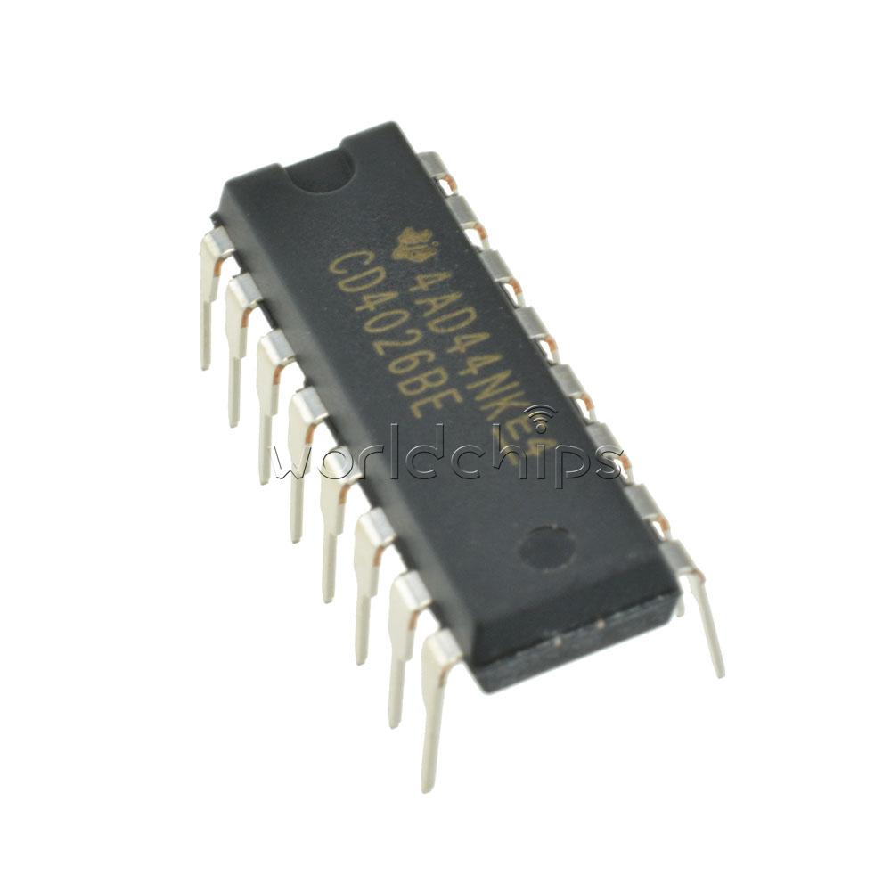 2pcs Cd4026 Cd4026be 4026 Ic Dip 16 Cmos Counters Decade Divider Ebay 5x 74hc595 8bit Shift Register Digital Integrated Circuit