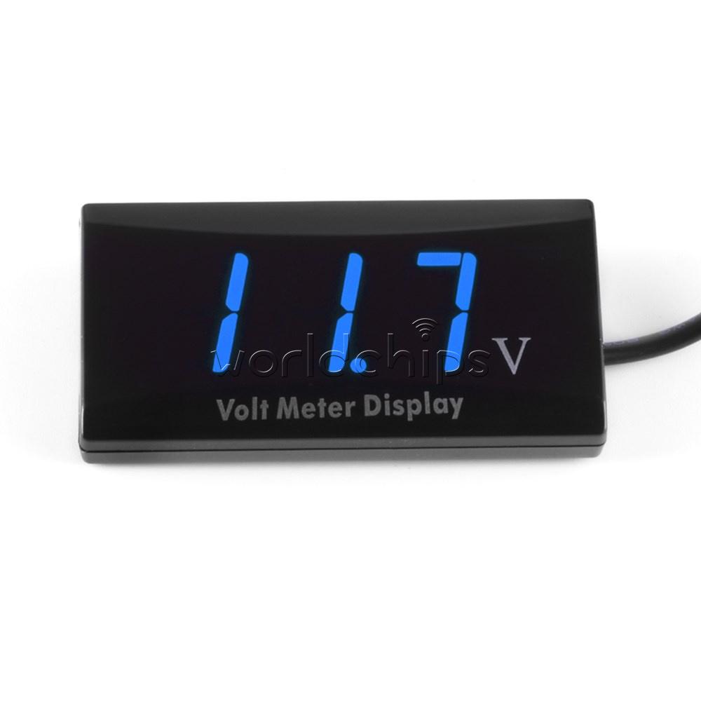 Digital Led Panel : V digital red blue white led display voltage meter