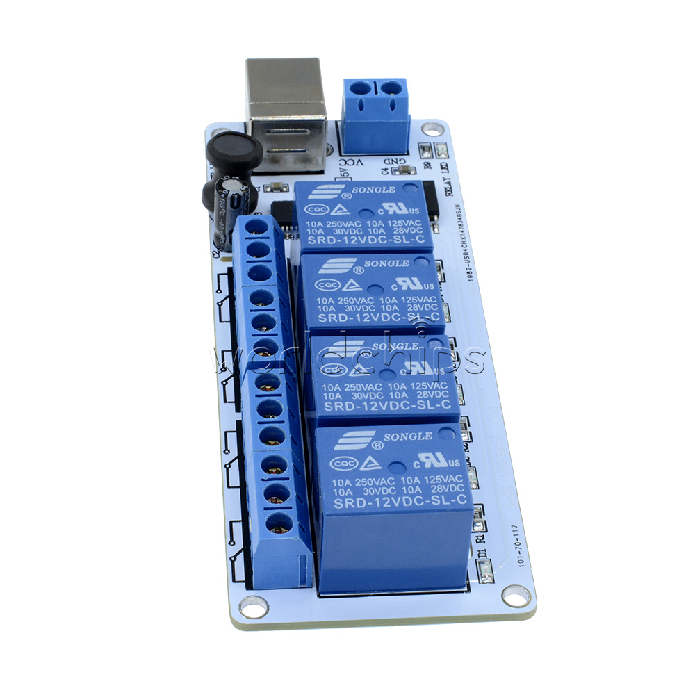 5v Usb 4 Channel Automation Relay Computer Control For Arduino Pic Electromagnetic This