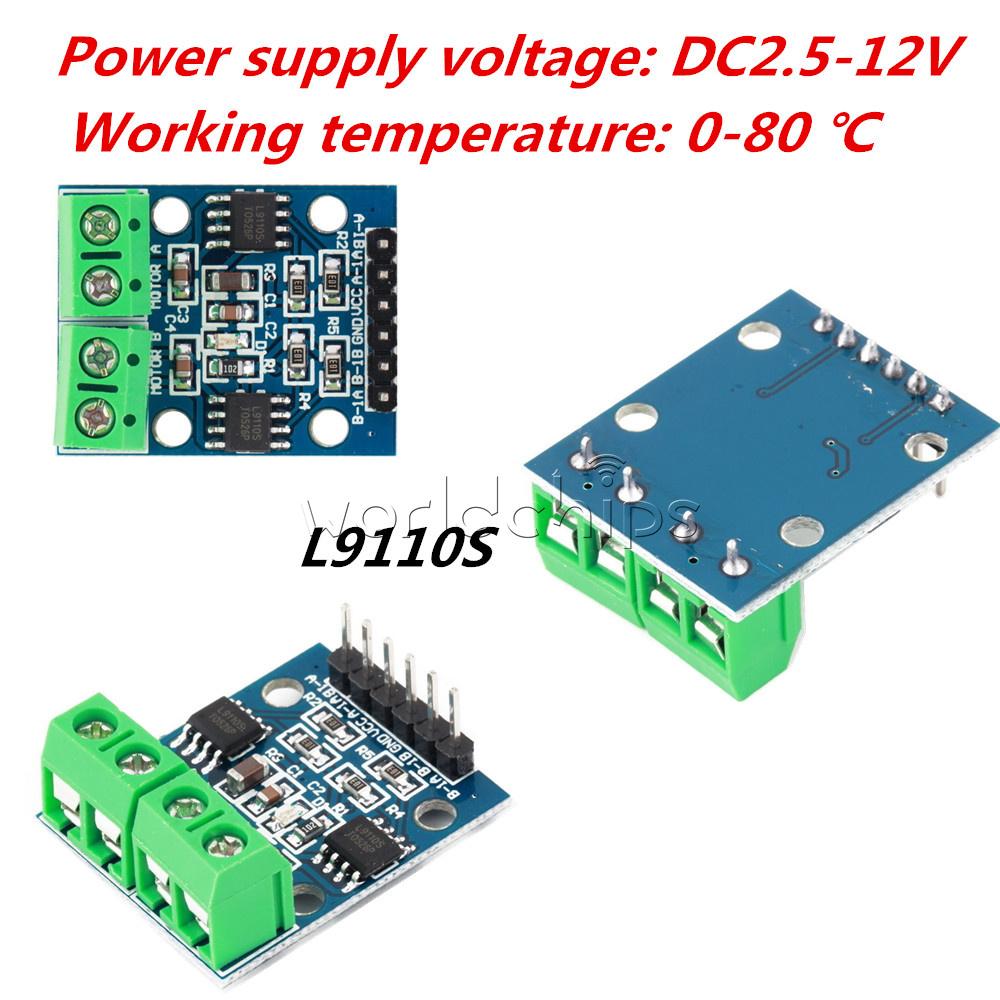 1 2 5 10pcs L9110s H Bridge Stepper Dual Dc Motor Driver Control Photos Of Circuit Board Arduino