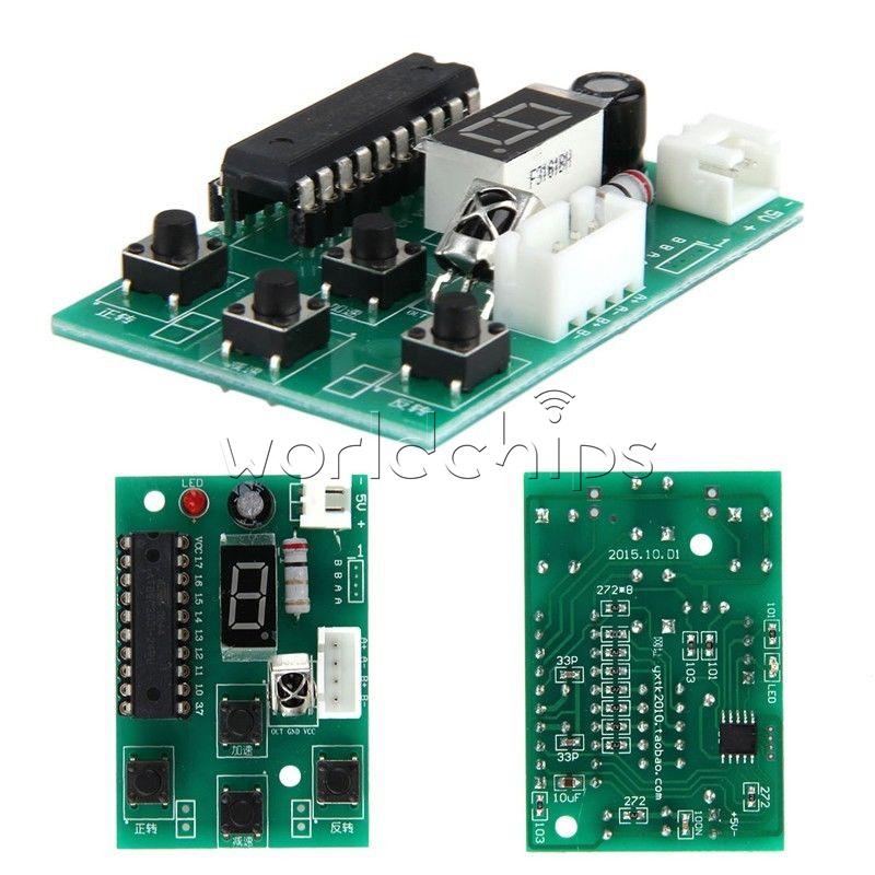 Dc 5v 2 Phase Stepper Motor Driver Controller Board Adjustable Speed Remote Ebay