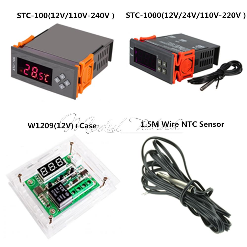 Details About 12v W1209 Stc 100 1000 All Purpose Temperature Controller Thermostat W Ntc Heating Sensor Stc1000 220v 10a