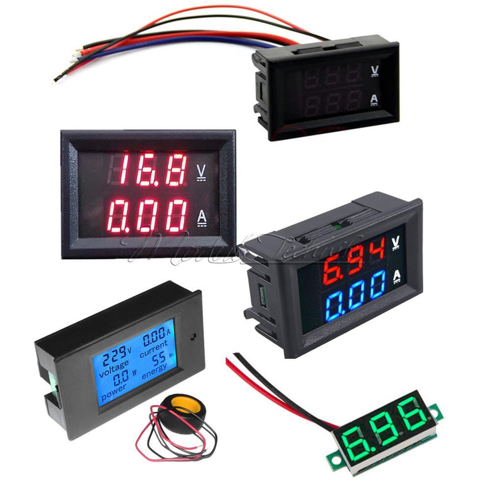 Digital Voltmeter Gauge : Dc v a voltmeter ammeter led digital volt meter gauge