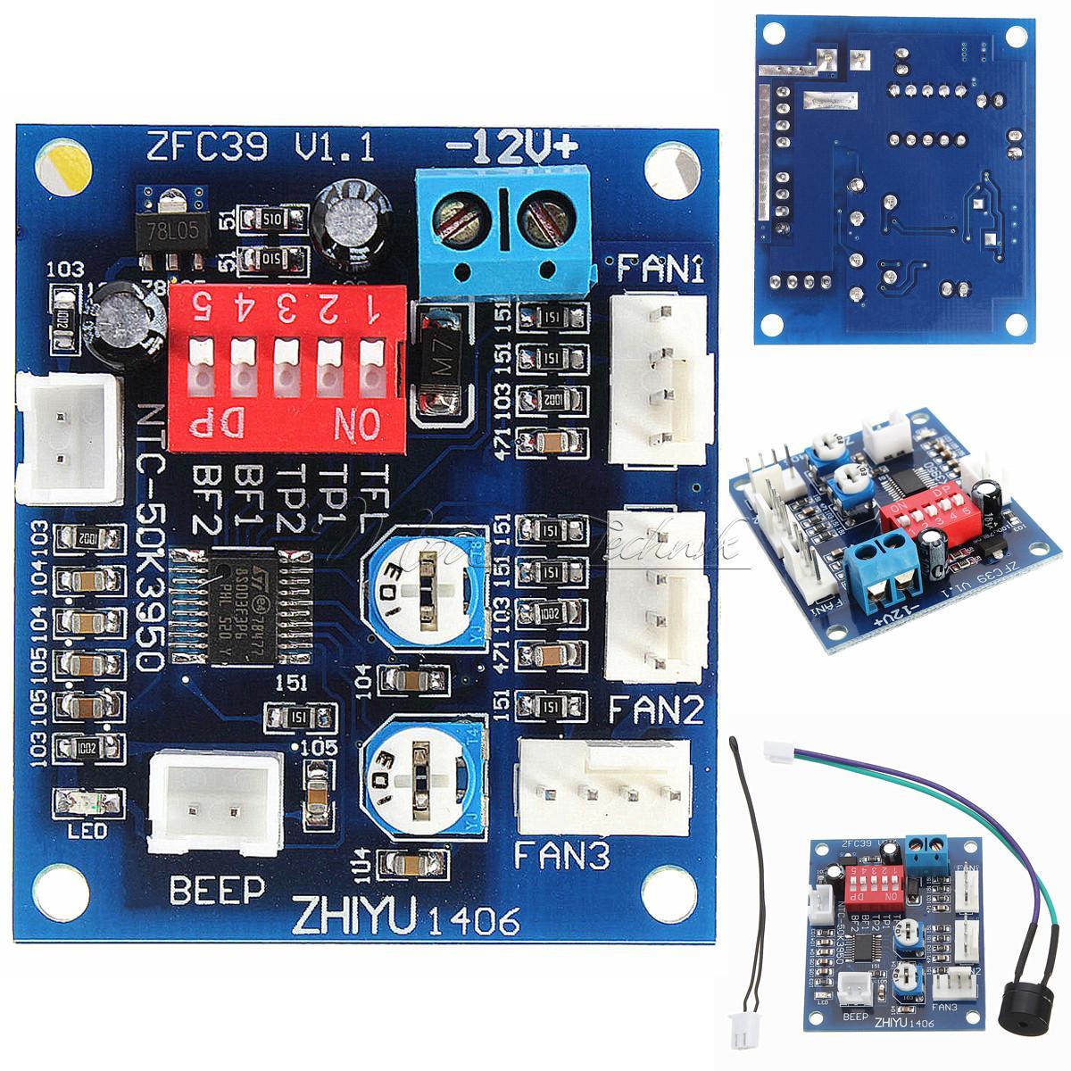 dc 12v pwm pc cpu fan temperature control speed controller cpu high