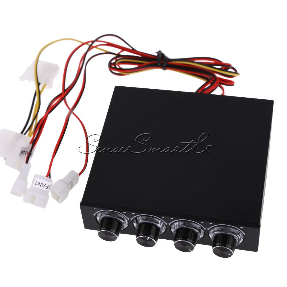 12v 35 Pc Pwm 4 Channel Cpu Fan Temperature Control Speed Three Controller For 3 5 034