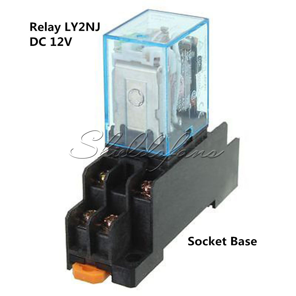 Dc 12v Coil Power Relay Ly2nj Dpdt 8 Pin Hh62p Jqx 13f