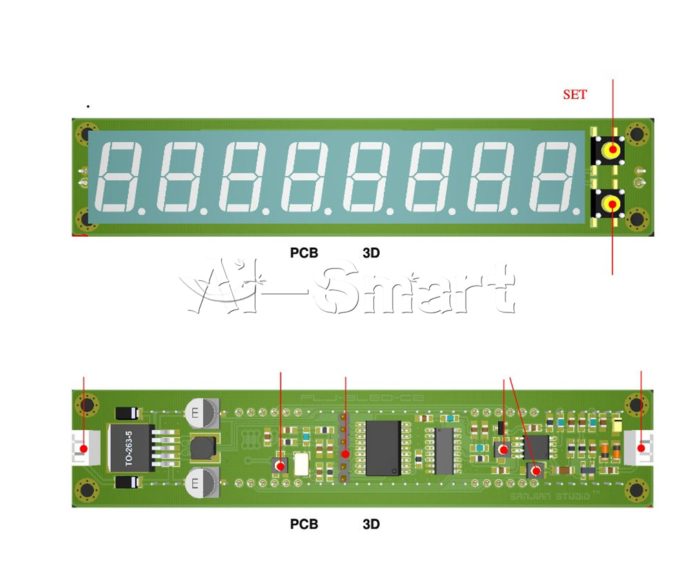 8 Digit 01 60mhz 20mhz24ghz Rf Signal Frequency Counter Cymometer Scoreboard Circuit Description
