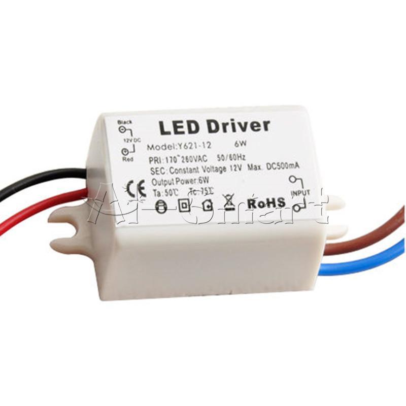 Mr16 Led Schematic: New 6W Wattage LED Driver Transformer DC 12V 500mA For 12V