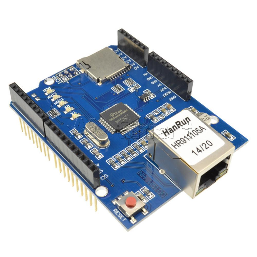 Ethernet shield w network expansion board for arduino