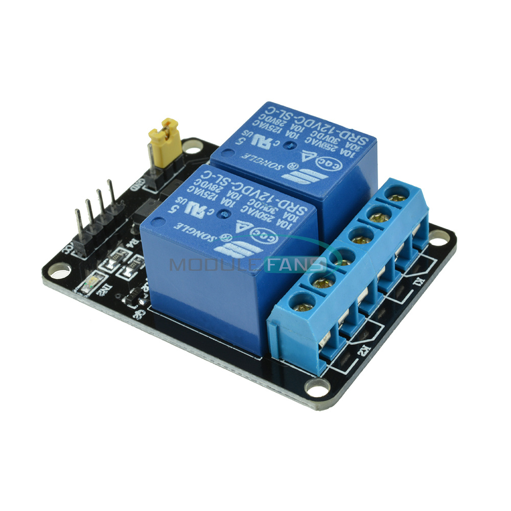 V channel relay module with optocoupler for