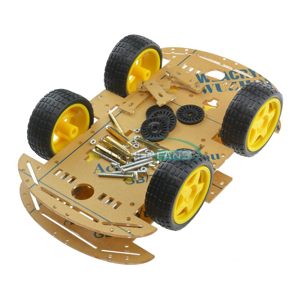 Wd robot smart car chassis kits with speed encoder