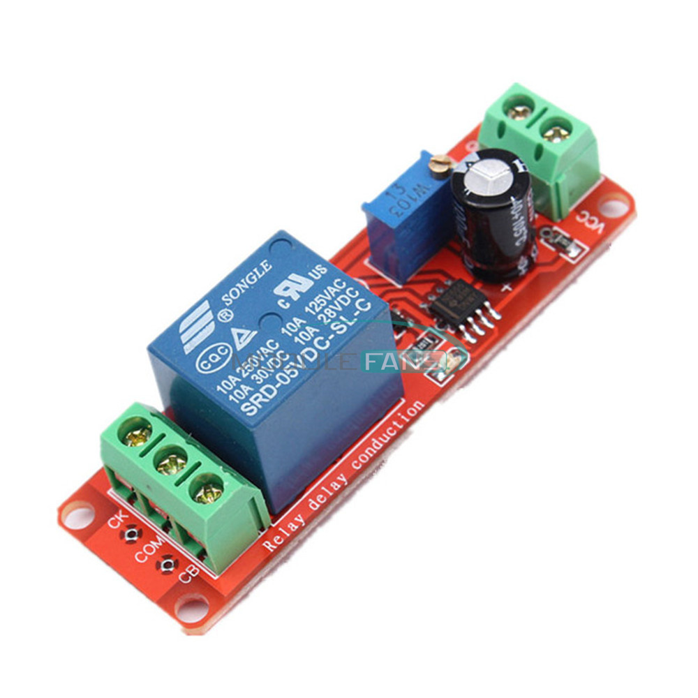 5Pcs DC 12V Delay Relay Modules Shield NE555 Timer Switch Adjustable Module UK
