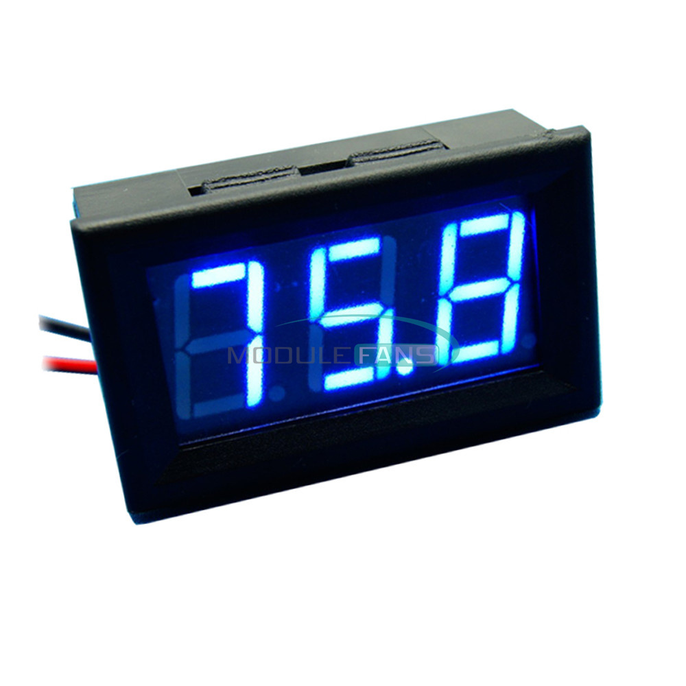 Digital Panel Meter 9v 3 5 : Blue led panel meter mini digital voltmeter dc v to