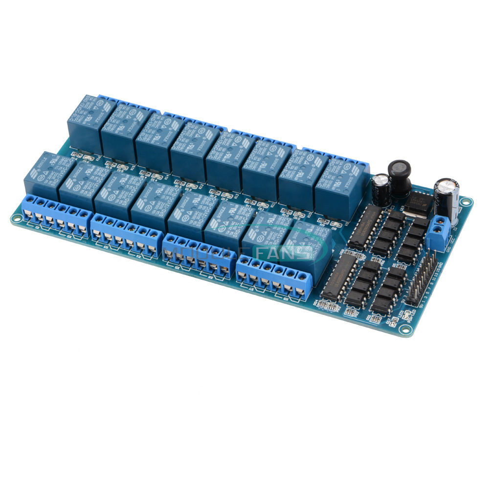 New channel v relay shield module with optocoupler for