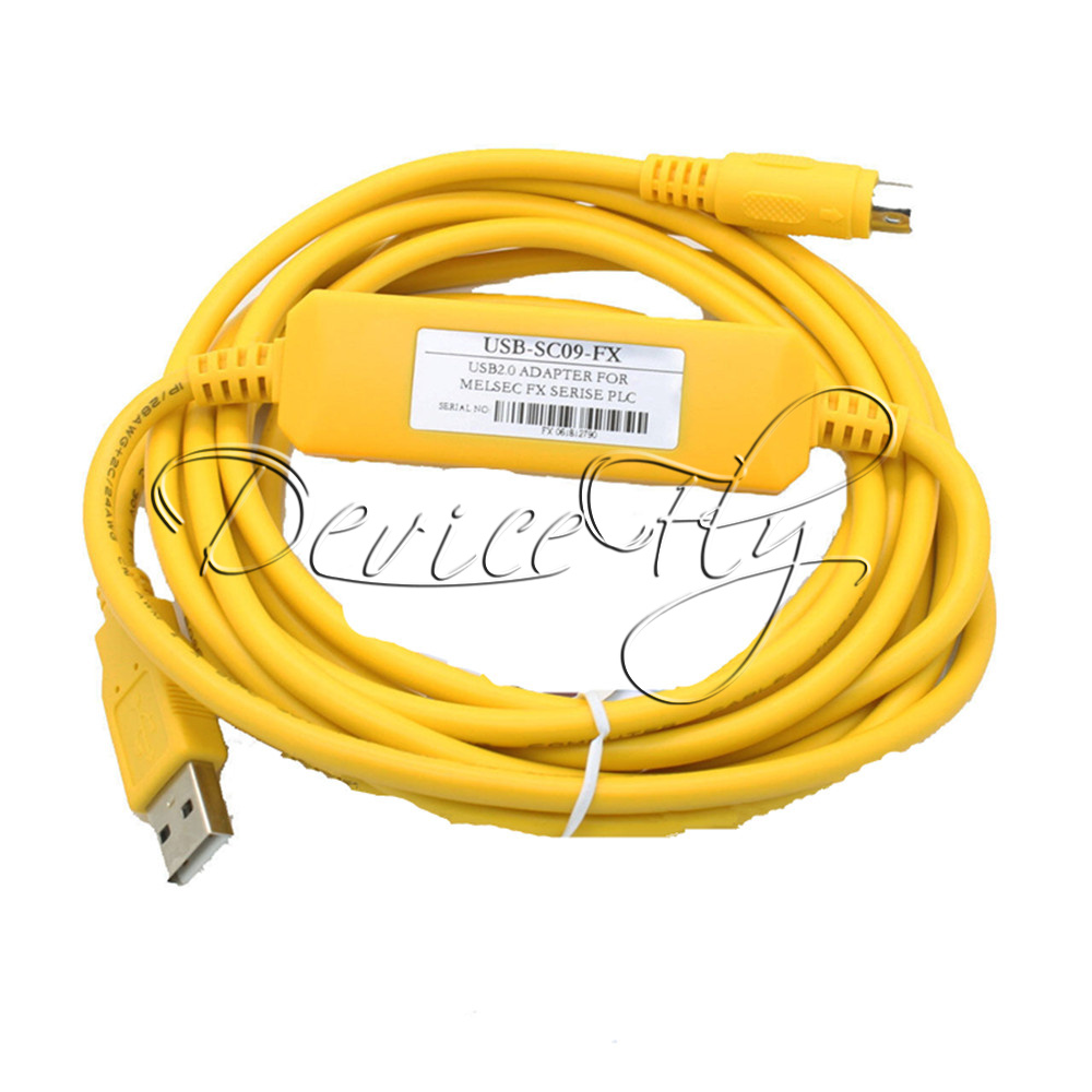 PLC-Programming-USB-SC09-FX-Cable-USB-to-RS422-Adapter-For-Mitsubishi-FX-Win7