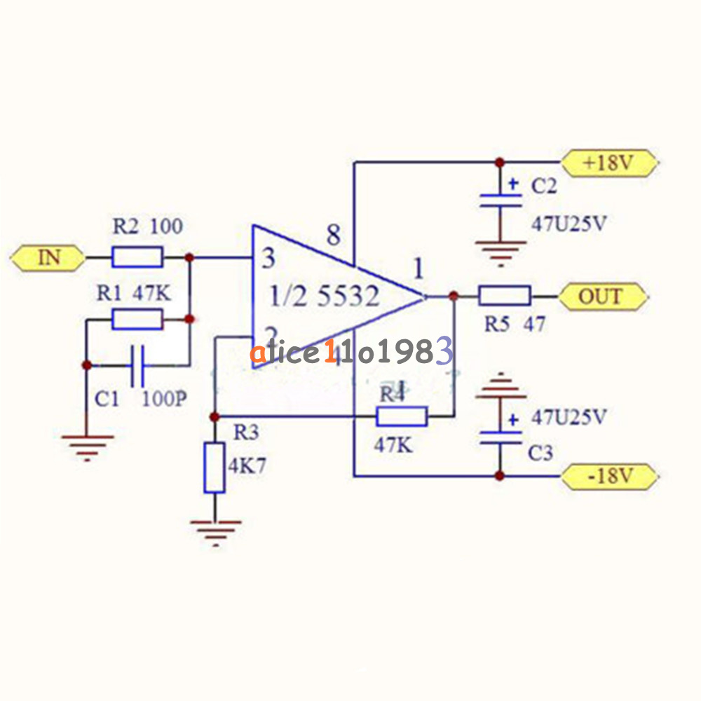 Details about Dual OP Amp Preamp DC Amplification Board PCB for NE5532  OPA2134 OPA2604 AD826
