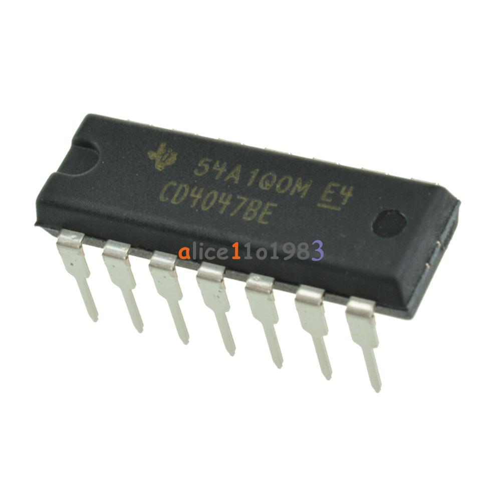 2pcs Cd4047be Cd4047 Cmos Monostable Multivibrators Dip14 Dip 14 Ti Ic Opamp And The Circuit