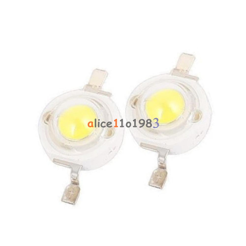 20//50//100pcs 1W High Power Chip LED Bulb Diodes Lamp Bead Warm//Pure White Red