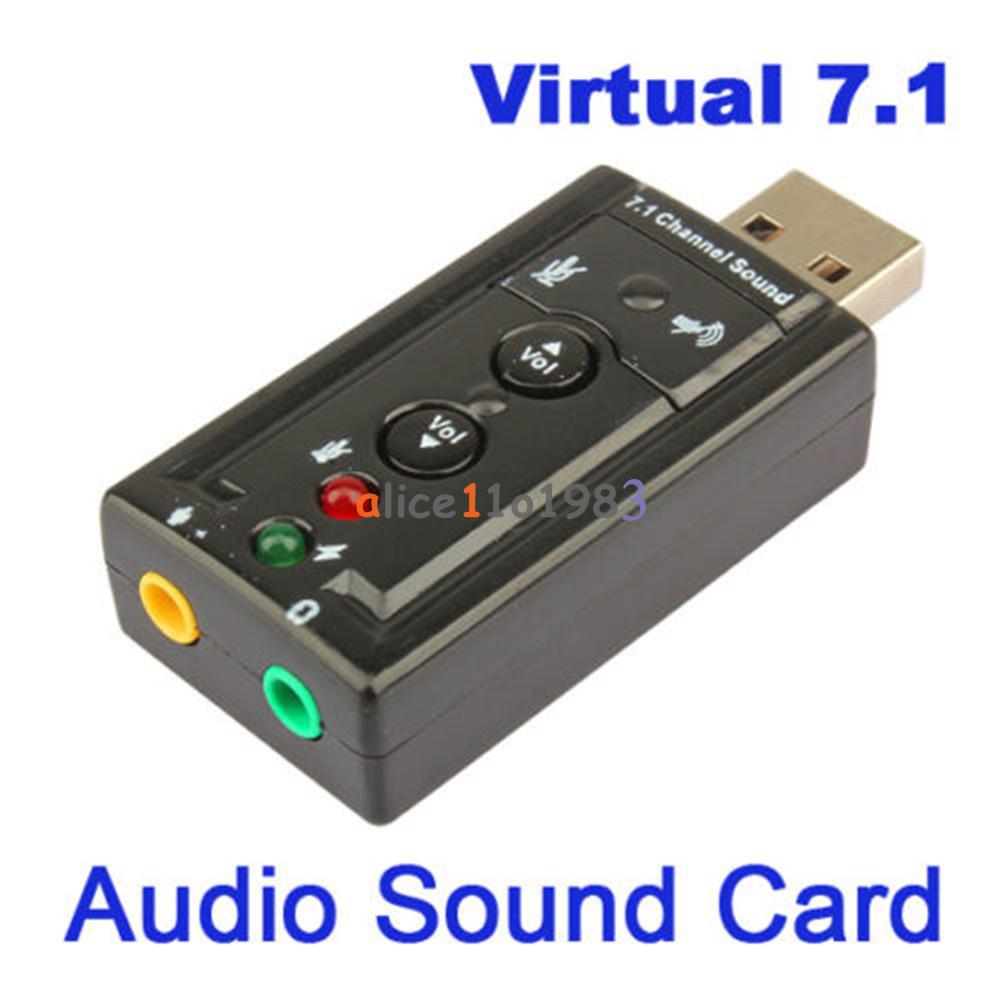 Mini usb channel audio sound card adapter