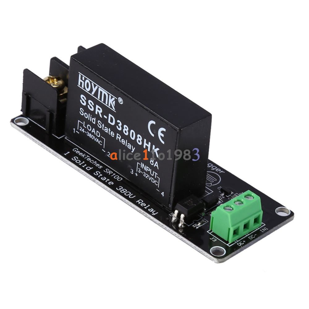 380v 8a 1 Channel Solid State Relay Module Board Ssr Switch Arduino Controller F