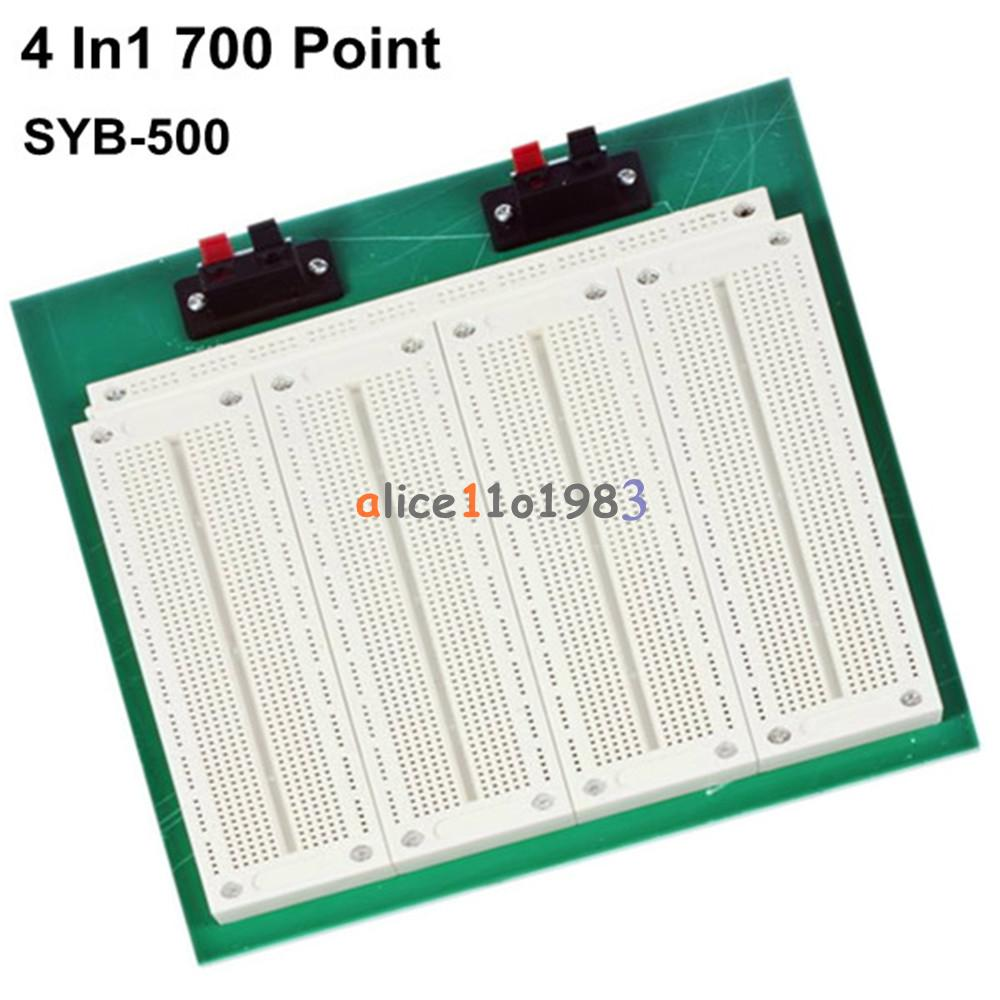 4 In 1 700 Position Point Syb 500 Tiepoint Pcb Solderless Bread Aquisition Of Electronic Circuit Boards Pcbs And Prototype Reusable For Fast Build A An Can Modify Or Revise The Circuits Easily Similar Prototyping Printed