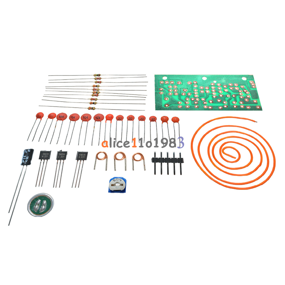 Dc 15v 9v Fm Wireless Microphone Diy Electronic Learning Kits 80mhz Transmitter Circuit Wiring Diagrams 108mhz