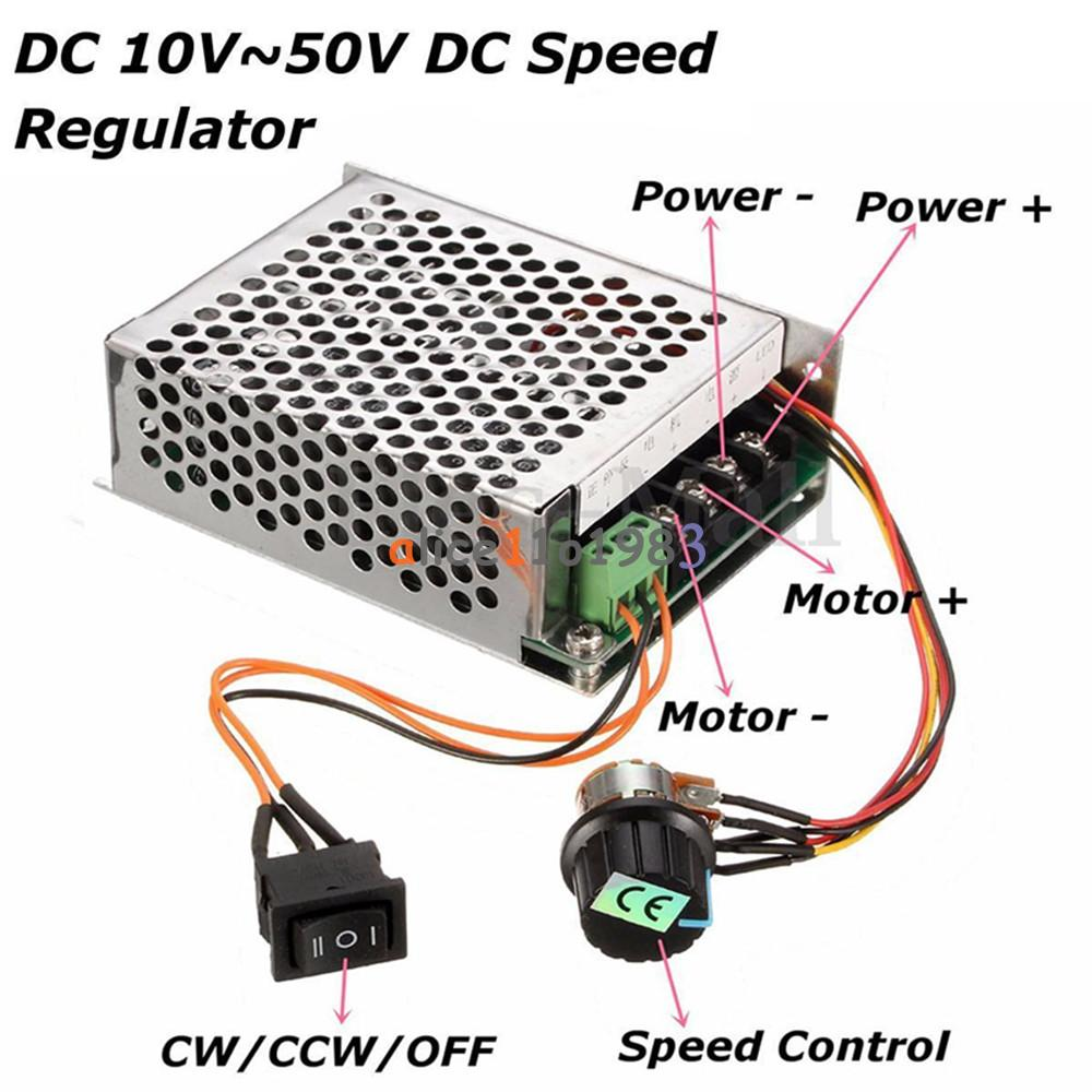 10 50v 40a pwm dc motor speed control controller cw ccw for Raspberry pi motor speed control