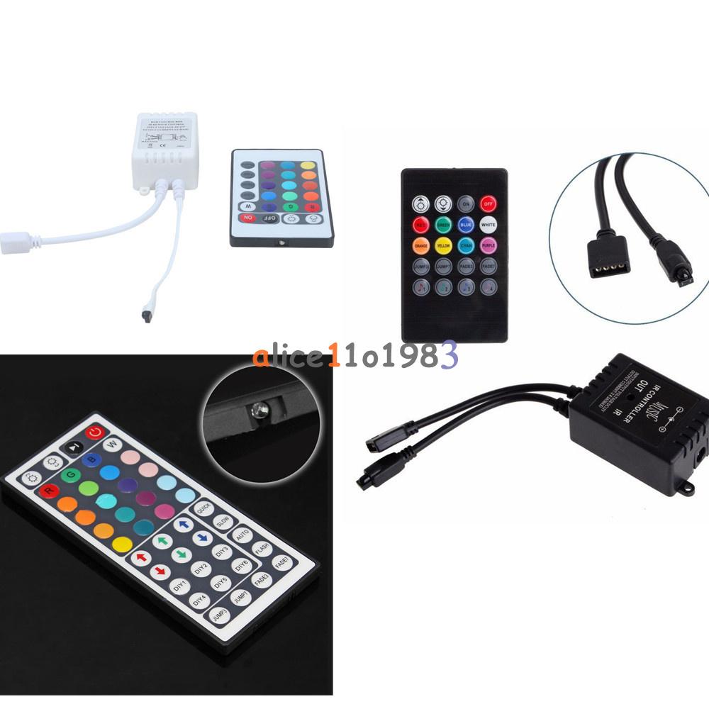 Remote Ir Sensor : Dc v rgb led light strip ir sensor controller sound
