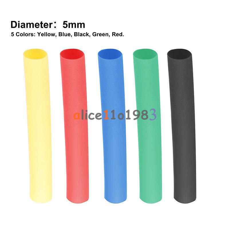 Pcs polyolefin heat shrink tubing tube sleeve wrap