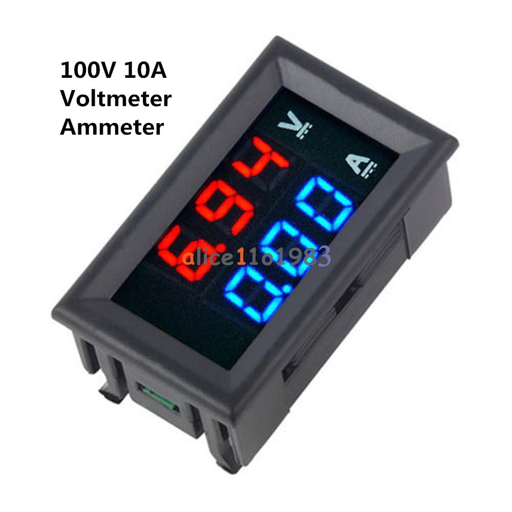 Blue Led Meter : New dc v a voltmeter ammeter blue red led digital