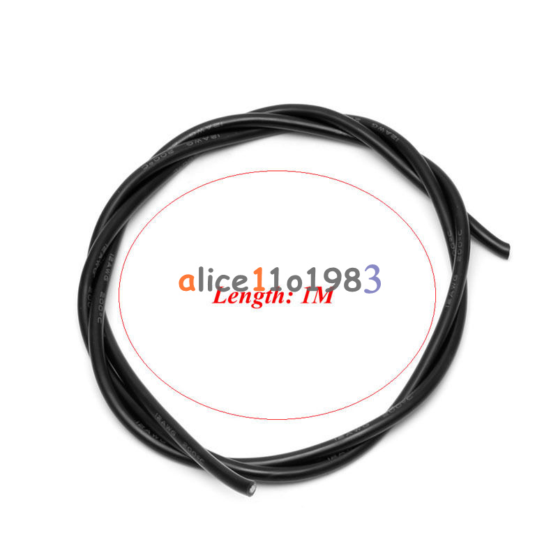 12 awg gauge wire silicone flexible copper stranded cables for rc black   red