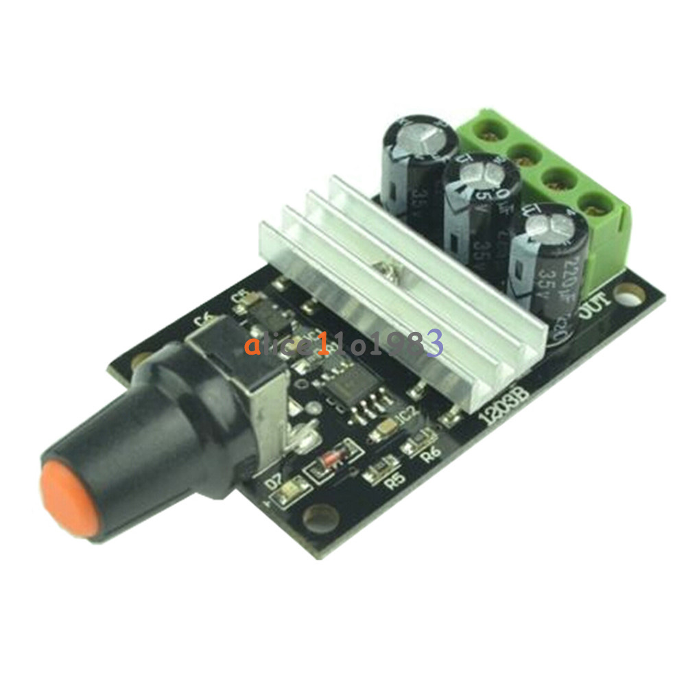 Dc 6v 28v 3a pwm motor speed varible regulator for Motor speed control pwm
