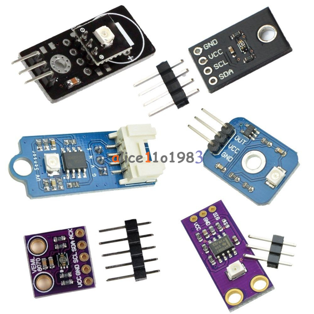 I2c 5v Veml6075 Veml6070 Guva S12sd Uv Sensor Module