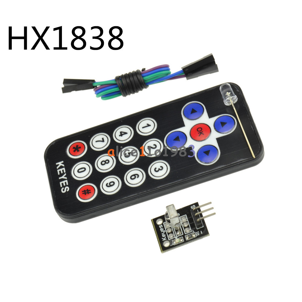 Details about HX1838 VS1838 Arduino Infrared IR Wireless Remote Control  Sensor Module Kits Set