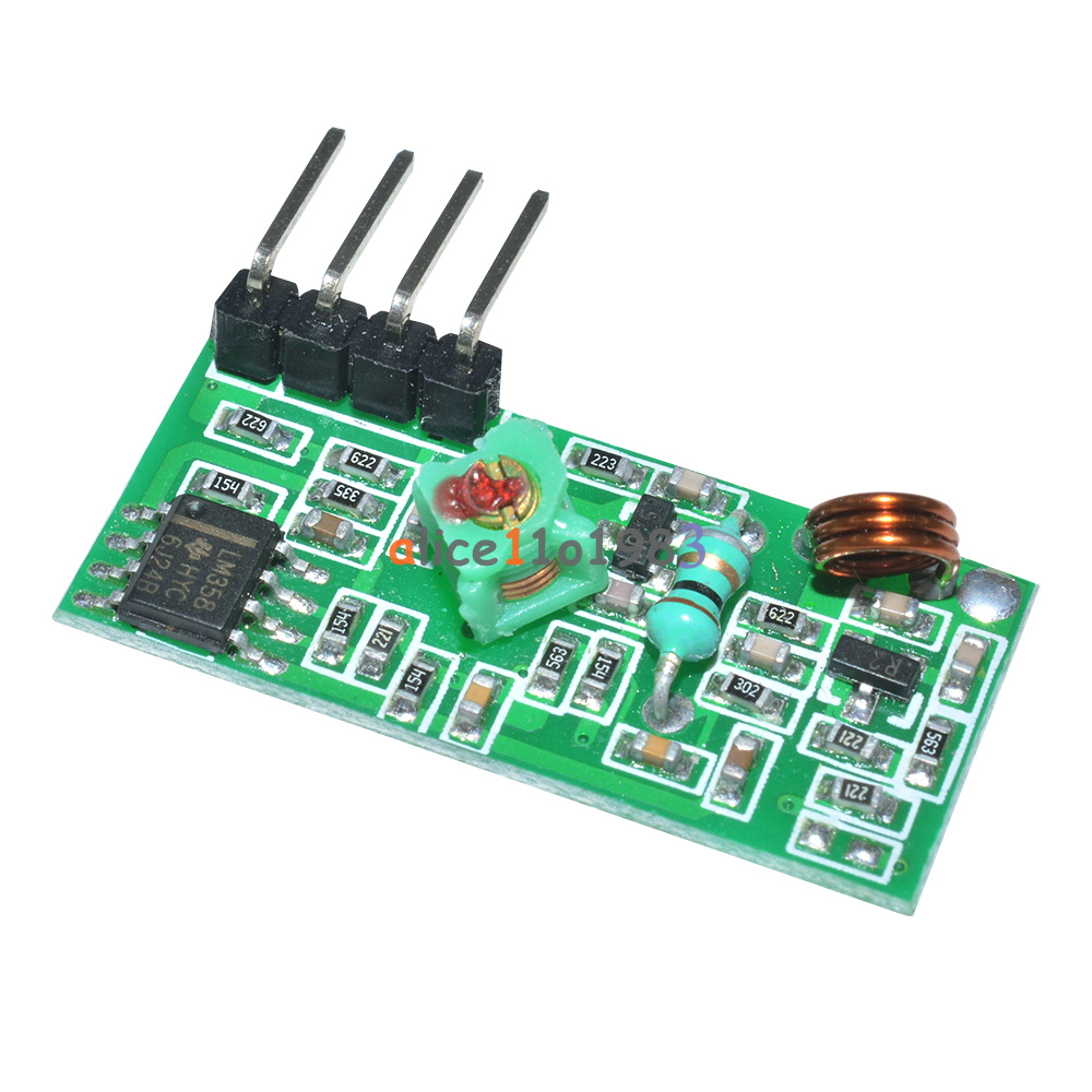 Mhz rf transmitter and receiver link kit for arduino